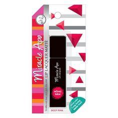 Miracle Apo Deep Pink Lip Lacquer Matte Finish 3 ML