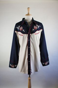 Check out this item in my Etsy shop https://www.etsy.com/listing/470433188/roper-western-shirt-embroidered-roses