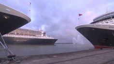 Queen Elizabeth and Queen Victoria play 'Happy Birthday' to Queen Mary 2