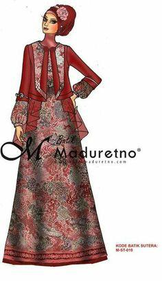 Model Dress Batik, Batik Dress, Turkish Hijab Style, Moslem Fashion, Modest Wear, Muslim Dress, Brokat, Formal Looks, Muslim Women
