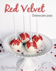 Recipe and Tutorial: Red Velvet Cheesecake pops