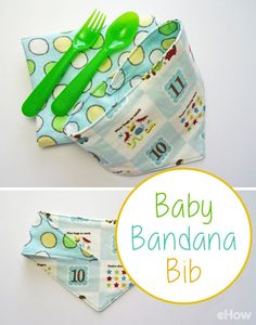 How adorable is this! Dress your baby up with a cute and practical bandana bib. This simple sewing project can be accomplished in one evening or even during nap time. http://www.ehow.com/how_8673147_make-bandana-bib.html?utm_source=pinterest.com&utm_medium=referral&utm_content=freestyle&utm_campaign=fanpage