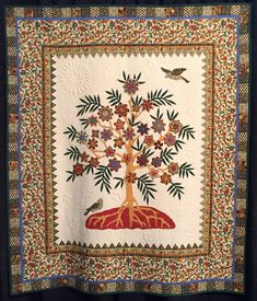 Jacobean Duet Paula Doyle Design Source: Broderie Perse Tree of Life