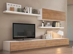 Modulaire rack mesa tv – Yazbik Ideas – living nordico – Welcome The Decor Living Room Tv Cabinet, Living Room Wall Units, Home Living Room, Living Room Decor, Tv Cabinet Wall Design, Tv Rack Design, Modern Tv Wall Units, Wall Units For Tv, Tv Units