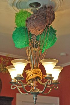 tutorial: how to make fringed lanterns which would be fantastic at a jungle party