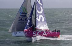 2014-2015 VOR - Team SCA - these are no ordinary women! First female entry since 2000 - 2001. Volvo Ocean Race team SCA - photo by Rick Tomlinson