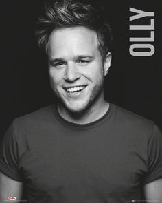 Olly Murs Black And White Poster Magnetic Notice Board Beech Framed - x 66 cms (Approx 38 x 26 inches) Black And White Posters, Print Store, Pop Singers, Music Is Life, How To Look Better, Celebs, Celebrities, Boards, Olly Murs Album