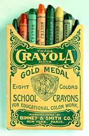 Crayolas came  8 to a package and we used them until all the paper wrapper was gone and they were just stubs.