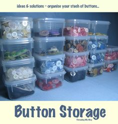 Button Storage Ideas... solutions to help you organise your button stash ~ Threading My Way