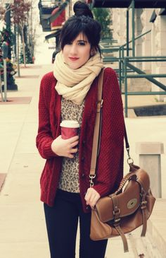 Still adore red and leopard print.