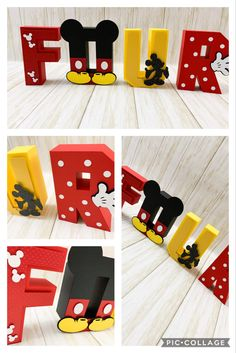 Mickey Mouse 3D letters!