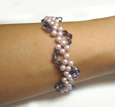 Beaded Pearly Twine Bracelet Tutorial