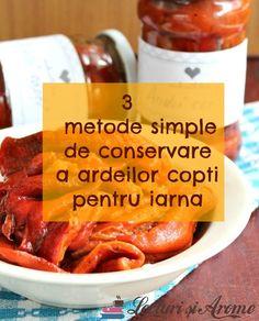 Cum poti conserva ardeii copti pentru iarna Conservation, Sweet Potato, Carrots, Vegetarian Recipes, Potatoes, Beef, Canning, Vegetables, Food