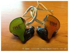 Orange and Green plate design 1964 Ears 1964-Q Custom In Ear Monitors. A guy can dream...