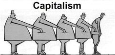 Interesting perspective ---Booky- Within Marxism they believe that we live in a Capitalist society. This picture shows that the Bourgeoisie (rich/high class people) are taking money from the Proletariat (poorer people) and they are benefiting from the profit they receive.