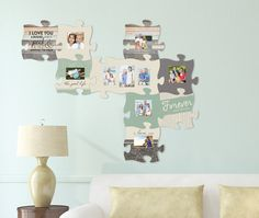 Puzzle Piece Wall Decor have found love photo frame puzzle piece wall art | puzzle pieces