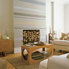 Striped accent wall -- what about wall stripes based off of menswear fabrics or suitings?