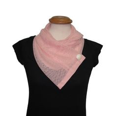 Get trendy with this Pink lace scarf from Adi Bakshi's fashion scarves collection.This lace scarf gets secured with a detailed button, ensuring that you'll always get that perfect slouchy look for every wear.