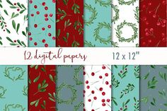 Xmas digital paper by MyLittleMeow on @creativemarket