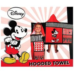 Mickey Mouse Hooded Towel$19.99