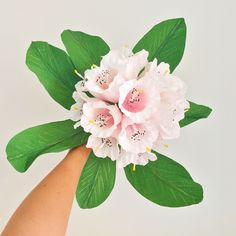 Crepe paper rhododendron