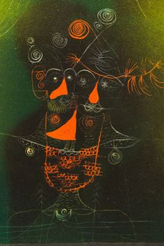 Paul Klee (Swiss: 1879-1940), Tripe Puppet, 1927. Gouache and watercolor on…