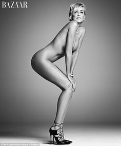 Actress Sharon Stone has bared her soul - and body - for the September issue of Harper's Bazaar magazine
