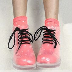 i love clear jelly boots