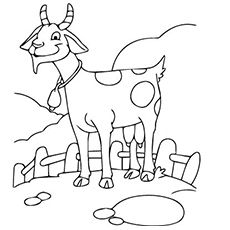 Funny Goat Coloring Pages Cute Goats, Page Online, Farm Animals, Paper Dolls, The Funny, Free Printables, Coloring Pages, Disney Characters, Fictional Characters