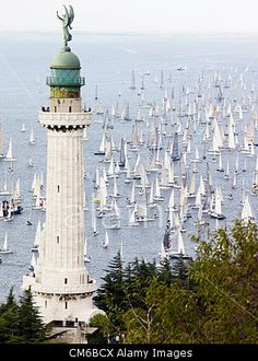 Trieste, Italy. 14th October 2012. The world's greatest sailing parade called Trieste 'Barcolana'. © flashover / Alamy