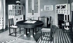 Mahler Foundation - House Spitzer Vienna - Steinfeldgasse No. Vienna Secession, Art Deco, Bauhaus, Dining Chairs, Dining Room, Beautiful Homes, Furniture Design, Interior Design, Wood