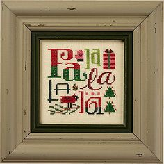 Lizzie Kate  Falalalala k49  Counted Cross Stitch by DebiCreations, $13.99