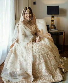 White lehengas are becoming new definition of Indian weddings to get customized bridal lehenga Contact us on Indian Bridal Outfits, Indian Bridal Lehenga, Pakistani Bridal Dresses, Indian Bridal Wear, Indian Dresses, Lehenga Wedding, Punjabi Wedding, Indian Clothes, Nikkah Dress