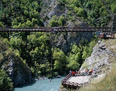 Bunji-jumping in New Zealand. Wouldn't mind a repeat of this.