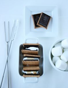 S'mores with a French Twist - using Le Petite Ecolier Cookies