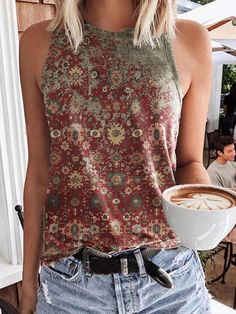 Shirts & Tops, Tank Tops, Stitch Fix Outfits, Casual Tops For Women, Sleeveless Shirt, Types Of Sleeves, Fashion Outfits, Clothes, Tribal Sleeve