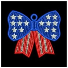 FSL Patriotic Bow embroidery design