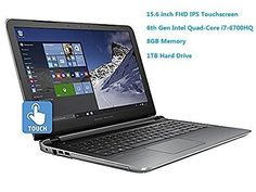 HP Pavilion 156 Flagship Laptop 6th Gen Skylake Intel i76700HQ QuadCore Processor6M Cache up to 35 GHz FHD IPS Touchscreen 8GB DDR3 1TB HDD DVD HDMI 80211AC Windows 10 * You can find out more details at the link of the image.