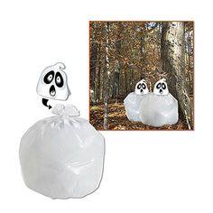 """Spooky Spirit Leaf Bag 35"""" x 27"""" plastic-00041  www.logosurfing.com (800) 728-7192"""