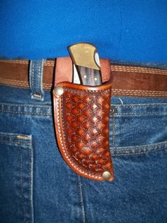 Custom leather knife Sheath JS112VT001RT by JSLeatherworks, $22.00