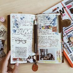 week 20。那天 Follow me on Instagram @janethecrazy #travelersnotebook #scrapbook…