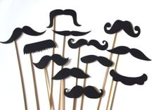 Photo Booth Props   Mustache Bash  Set of 12 by TheManicMoose, $12.00