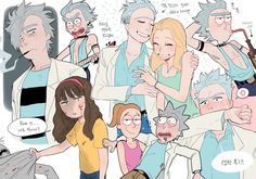 Rick and Morty Rick And Morty Time, Rick Und Morty, Ricky Y Morty, Wubba Lubba, Naruto E Boruto, Fanart, Grumpy Cat, Manga, Cartoon Characters