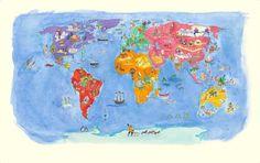 Lovely world map for kids