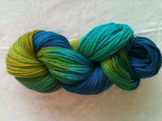 Hand dyed Wool Yarn with egg dye