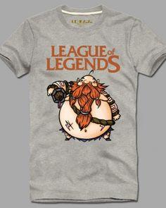League of Legends Gragas cotton tshirt for men XXXL short sleeve-