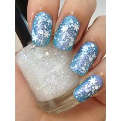First Snow-Winter Snowflake Glitter Indie Iridescent Nail Polish by Noodles Nail Polish