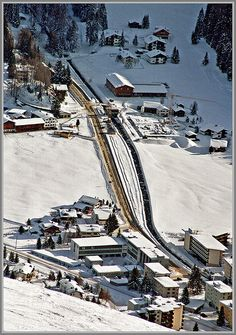 Railway on Davos, Switzerland