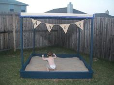 Ana White | Build a Large Covered Sandbox | Free and Easy DIY Project and Furniture Plans