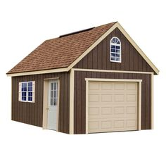 Best Barns Glenwood 12 ft. x 24 ft. Wood Garage Kit without Floor-glenwood_1224 - The Home Depot